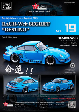 Preorder - FuelMe 1/64 Resin Model RWB993 19 Destino - Release Date : Mar 2021