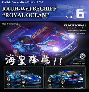 Preorder ~ FuelMe 1/64 Porsche 993 RWB Royal Ocean Resin Made Model ETA : April 2020
