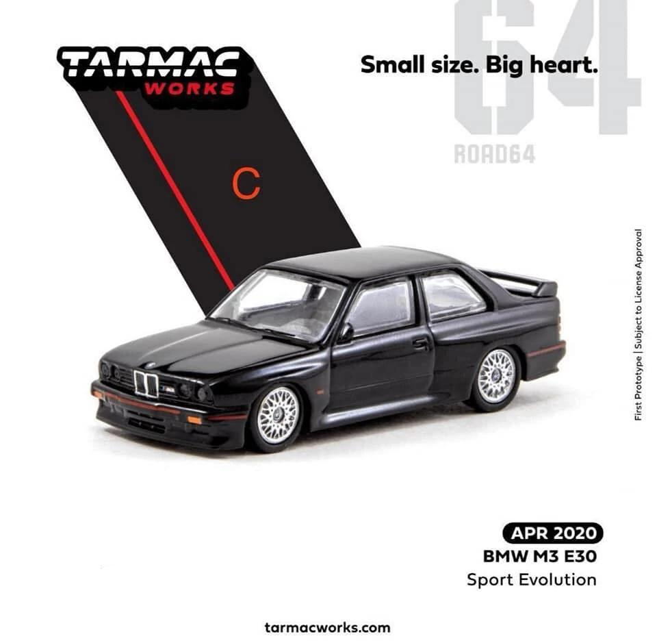 Preorder ~ Tarmac Works 1/64 BMW M3 E30 Sport Evolution ETA : April 2020