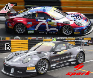 Preorder ~ Spark Model 1/64 Porsche GT3 R No.911 Craft Bamboo Racing ( EVISU / FIA GT World Cup Macau 2018 ) ETA : November 2019