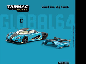 Preorder ~ Tarmac Works 1/64 Koenigsegg Agera RS Ocean Blue Global64 ETA : April 2020