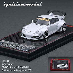Preorder - ignition Model 1/64 IG RWB 993 Matte Pearl White - Release Date : Apr 2021