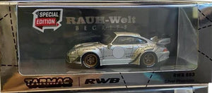 Preorder - Tarmac Works TW 1:64 Diecast RWB 993 Silver Pig Silver Phantom China Exclusive plus 3 sets of numbered sticker - Release Date : May 2021