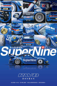 MCE Model Car Mall RSM Real Scale Memory 1/64 SuperNine 9 RWB Collectible Set - Release Date : August 2020
