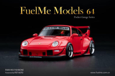 Preorder ~ Fuelme 1/64 RWB Fishbone Candy Red Fist Auto Resin Model Car - ETA : Sep 2020