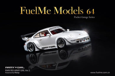 Preorder ~ Fuelme 1/64 RWB ARMY GIRL Ver.1 GT Hossy Auto Resin Model Car - ETA : Nov 2020