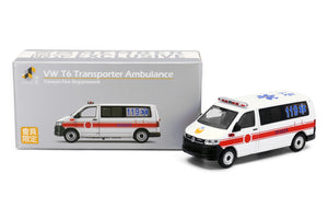 Tiny City Die-cast Model Car - Volkswagen T6 Transporter Fire Department Ambulance