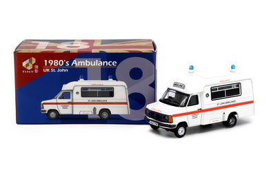 Tiny City UK18 Die-cast Model Car - 1980's St. John Ambulance in England
