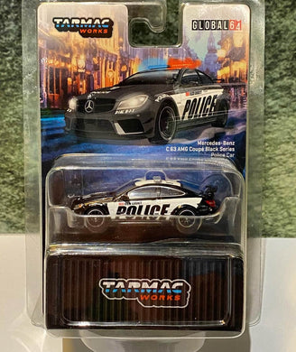 Preorder ~ Tarmac Works 1/64 Mercedes-AMG C63 Black Series Police Car - Release Date : TBA