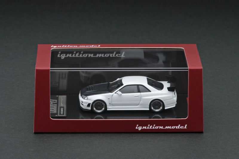 Preorder ~ 1/64 ignition Model IG1868 Nismo R34 GT-R Z-tune White with Carbon Bonnet ETA : Mar 2020