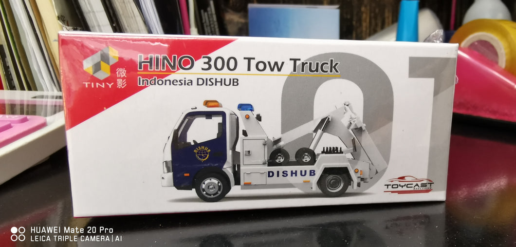Tiny 1/64 Hino 300 Tow Truck Indonesia Dishub