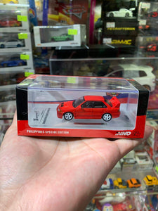 INNO64 1/64 MITSUBISHI LANCER EVOLUTION III 1995 Red Philippines Toy Con Special Edition