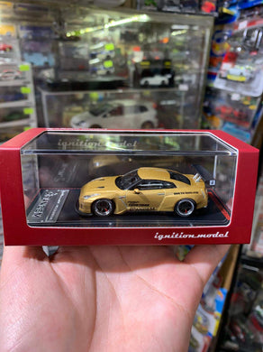 Tarmac 1:64 ignition ig Pandem TRA Racing Nissan GT-R Gold 1744 Japan Exclusive ( Free Shipping Worldwide )