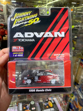 Johnny Lightning 1/64 Advan Yokohama Mijo Exclusive 1998 Honda Civic 1 of 4800 Pcs