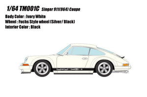 Make Up 1/64 Singer Titan Porsche 911 ( 964 ) Coupe TM001C Ivory White
