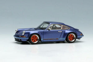 Make Up 1/64 Singer Titan Porsche 911 ( 964 ) Coupe TM001D Ice Blue Metallic