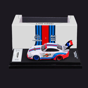(Pre Order) ArtWork x Time Model TM RWB 993 1:64 Diecast Martini High Wing ~ Release Date Sep 2020