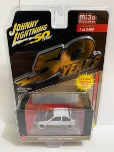 Johnny Lightning 50 Years White Lightning Mijo Exclusives 1998 Honda Civic Custom (#Y)