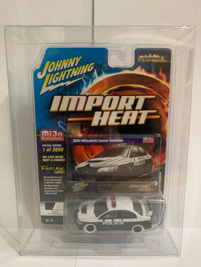 Johnny Lightning White Lightning Import Heat Street Freaks Mijo Exclusives 2004 Mitsubishi Lancer Evolution Police (#Y)