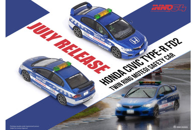 Preorder - INNO64 1/64 HONDA CIVIC Type-R FD2 Twin Ring Motegi Safety Car 2014 - Release Date : Aug 2021