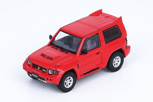 Preorder - INNO64 1/64 MITSUBISHI PAJERO EVOLIUTION Red With Extra Wheels - Release Date : Aug 2021