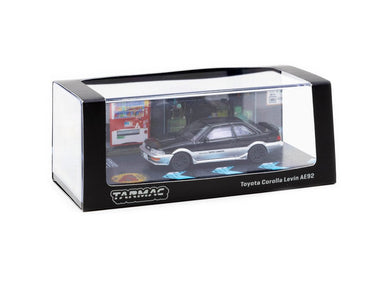 Tarmac Works 1/64 Toyota Corolla Levin AE92 Black / Grey - ROAD64