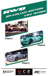 Preorder - MCE 1/64 Impossible Perfect IP RWB Resin Model Car 3 Car Box Set Brazilian Edition - Release Date : Feb 2021 ( Free Shipping Worldwide )