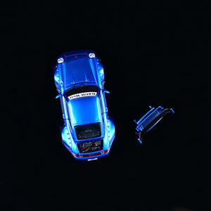 Preorder ~ CM Model 1:64 Diecast RWB Licensed RWB 993 Metallic Blue ETA : Feb 2021