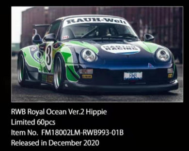 Preorder ~ FuelMe 1:18 Resin Model RWB 993 Royal Ocean Ver. 2 Hippie ETA : Jan 2022 ( Free Shipping Worldwide )
