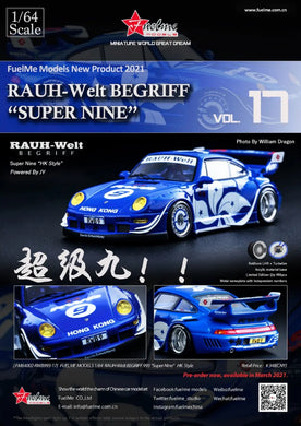 Preorder -  FuelMe 1/64 Resin Model RWB 993 Super Nine Limited 499 pcs Release Date : Apr 2021