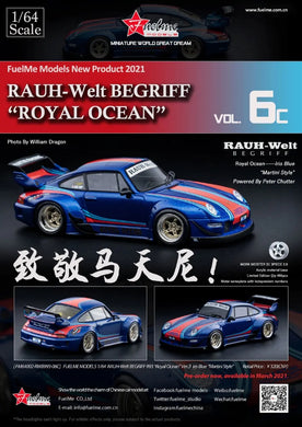 Preorder -  FuelMe 1/64 Resin Model RWB 993 Royal Ocean Martini Limited 499 Pcs Release Date : Apr 2021