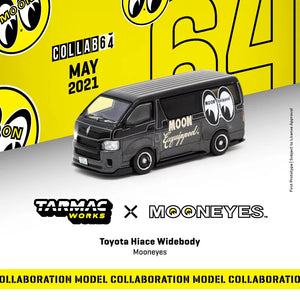 Preorder - Tarmac Works 1/64 Toyota Hiace Widebody Mooneyes - Release Date : May 2021