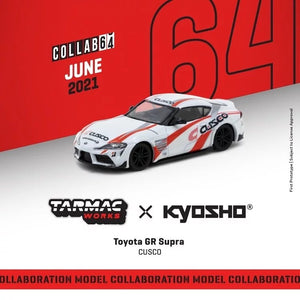 Preorder - Tarmac Works 1/64 Toyota GR Supra CUSCO *** Collaboration with Kyosho ***- Release Date : Jun 2021