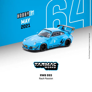 Preorder -  Tarmac Works RWB 993 Rauh Passion - Release Date : May 2021