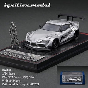 Preorder - ignition Model 1/64 IG PANDEM Supra (A90) Silver With Mr. Miura metal figurine - Release Date :Apr 2021