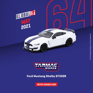 Preorder -Tarmac Works 1/64 Ford Mustang Shelby GT350R White Metallic - Release Date : Jan 2021