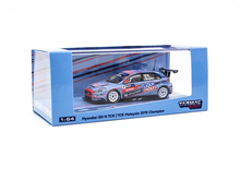Load image into Gallery viewer, Tarmac Works 1/64 HYUNDAI i30N N TCR Malaysia 2019 #8 Champion - HOBBY64