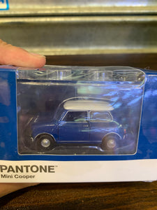 Tiny City Diecast - Set of 6 Mini Cooper X Pantone Set (Blue) ~ Free Shipping Worldwide !!!