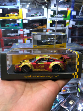 Spark 1/43  #912 Porsche 911 GT3 R Manthey Racing 4th  FIA GT World Cup Macau 2018 ( Free Shipping Worldwide )