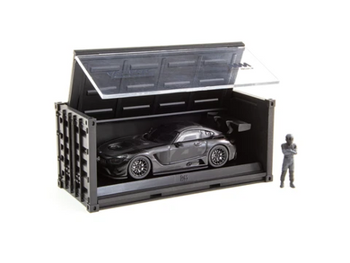 Tarmac Works 1/64 Mercedes-AMG GT3 4A Like Black No. 4 (Black) with Container - Web Store Special - HOBBY64