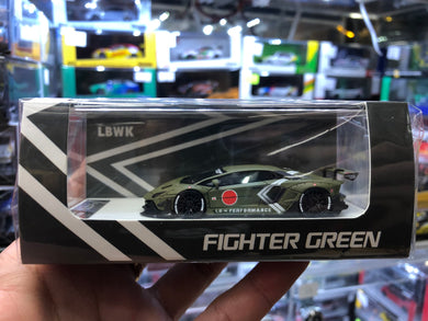 Timothy & Pierre 1/64 LB Performance Lamborghini Aventador LP700 FIGHTER GREEN Resin
