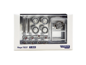 Tarmac Works 1/64 Accessories Rays TE37 White - PARTS64