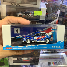 Load image into Gallery viewer, Tarmac Works 1:64 Subaru Impreza WRX STI All Japan Rally Championship 2016 (T. Arai / N.Tanaka)