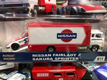 Load image into Gallery viewer, New Hot Wheels 1/64 Real Rider Car Culture Team Transporter Hot Wheels 1/64 Real Rider Car Culture Team Transporter Nissan Fair Lady AT SHOP