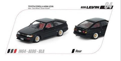Preorder~ Inno64 Toyota Corolla Levin AE86 (Black) (With Extra Wheels & Decal Sheet) #S99