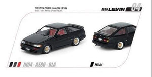 Inno64 Toyota Corolla Levin AE86 (Black) (With Extra Wheels & Decal Sheet)