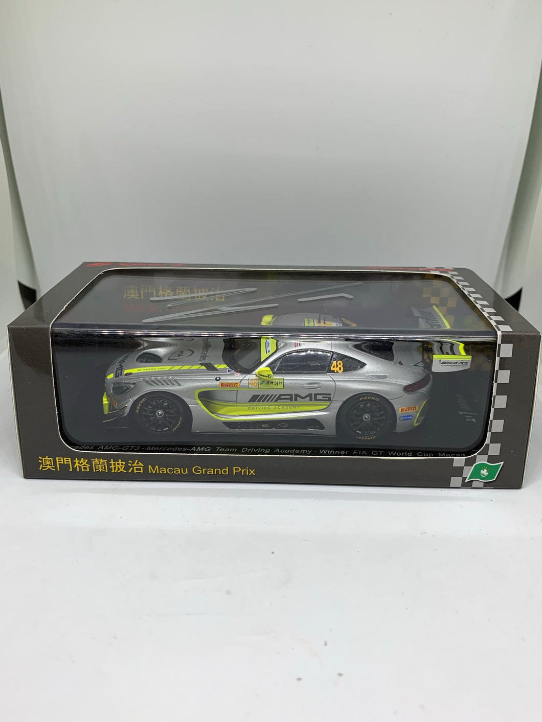 Spark 1:43 Mercedes AMG-GT3 (Mercedes-AMG Team Driving Academy) FIA GT World Cup Macau 2017 Winner (With Edoardo Mortara Signature!) #KY