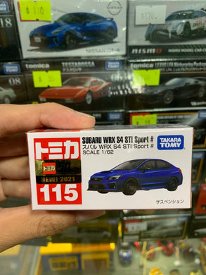 Takara Tomy Tomica 1/62 No.115 Subaru WRX S4 STI Sport # (Blue) (2021 May New Model)