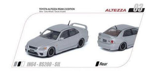 Preorder~ Inno64 Toyota Altezza RS200 Z-Edition (Silver) (With Extra Wheels & Decal Sheet) #S99