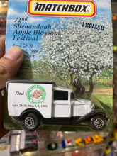 Load image into Gallery viewer, Matchbox Ford Model A 72nd Shenandoah Apple Blossom Festival (April 28-30, May 1-2, 1999) (Winchester, VA) (Limited Edition)